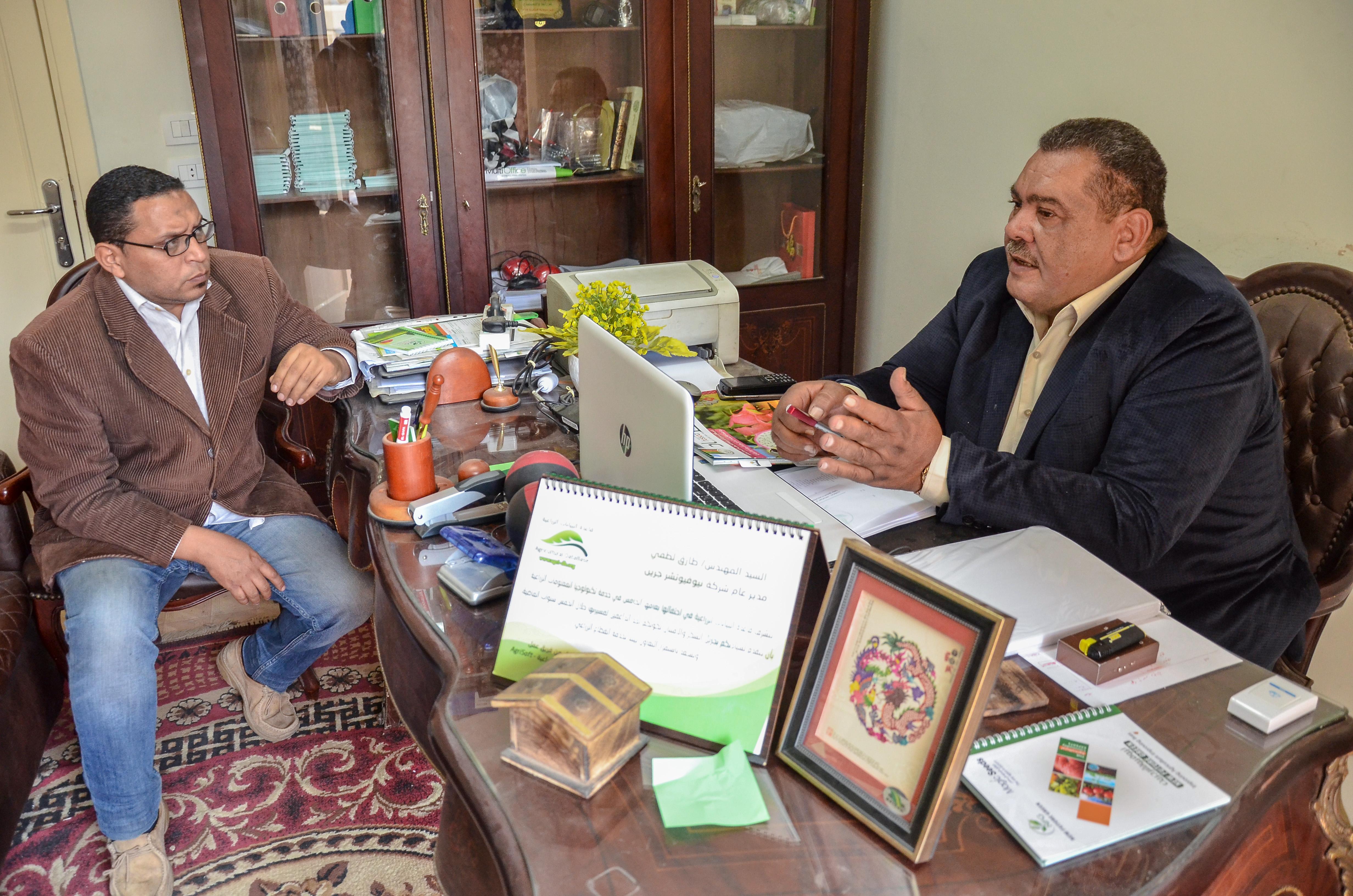 صورة مدير عام  نيوفيوتشر جرين : نهدف لخدمة صغار المزارعين وتوفير منتج مصري بسعر مناسب